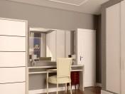 Туалетный столик с зеркалом и шкафом