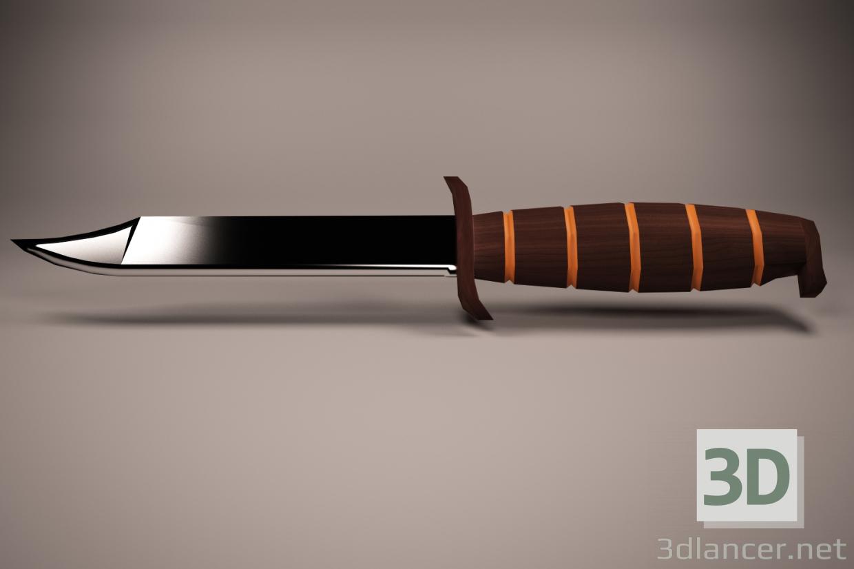 3d knife, weapon, knife, weapon model buy - render