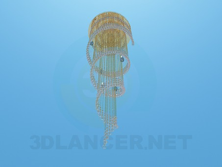 3d model High helical chandelier - preview