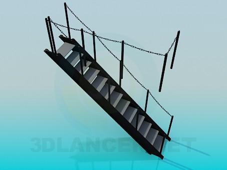 3d моделирование Трап на корабль модель скачать бесплатно