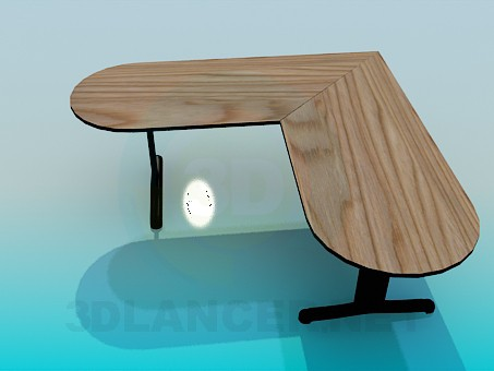 3d modeling Corner table model free download