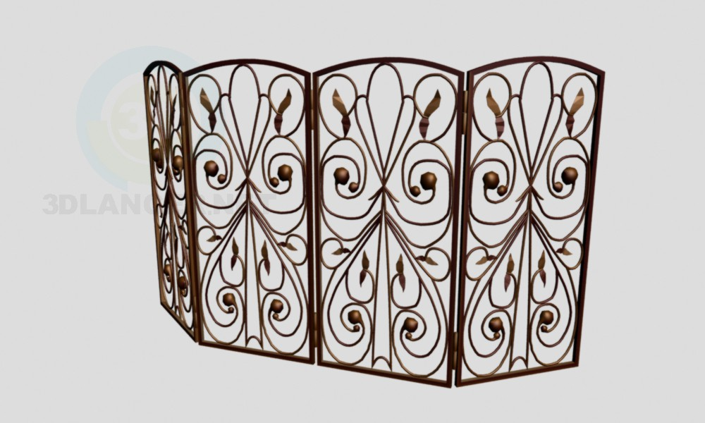 3d model The fireplace grate - preview
