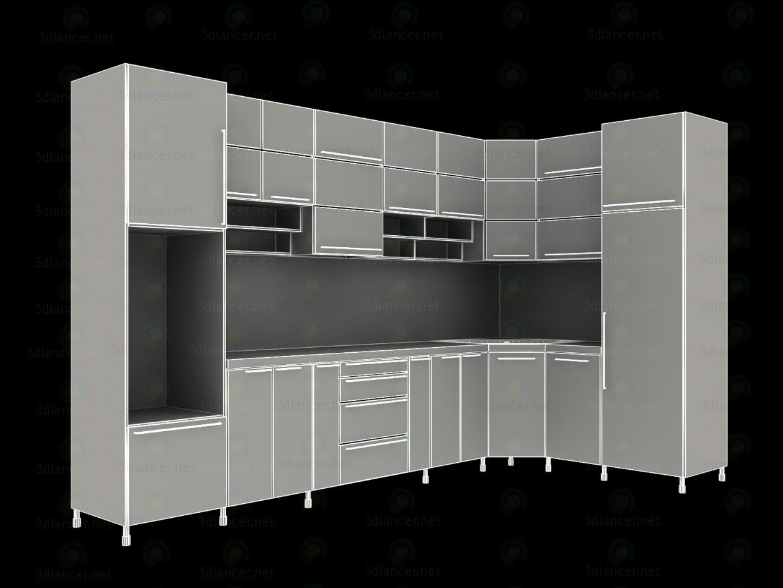 3d model Corner kitchen. Minimalism - preview