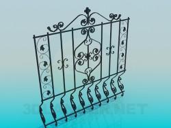 Une section de clôture
