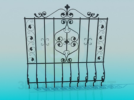 3d model One section of fence - preview