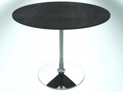 Tavolo da ristorante rotondo (RR30 cromato CER3, Ø800 mm, Н660 mm, base rotonda)