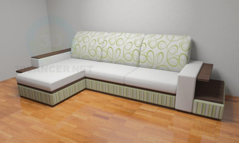 """3d model Sofa """"Delta"""" - preview"""