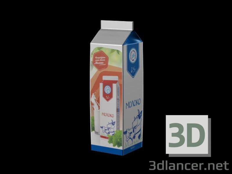 3d model Milk packaging - preview