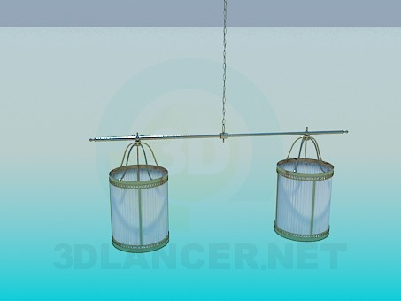 3d modeling Two ceiling chandelier model free download