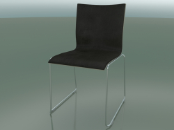 Sliding chair, extra width, with leather interior (127)