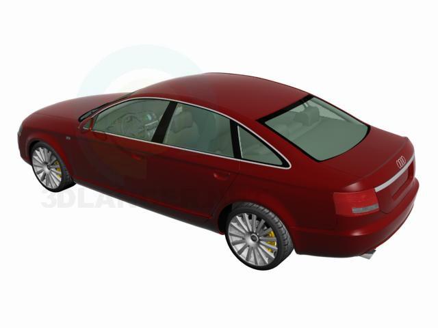 3d моделювання AUDI A6 модель завантажити безкоштовно
