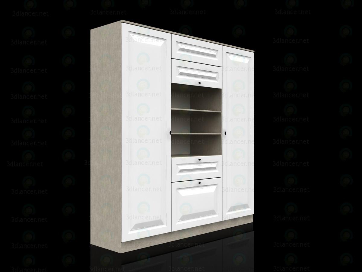 3d модель Гардеробный шкаф для детской – превью