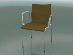 4-legged chair with armrests, upholstered in fabric (129)