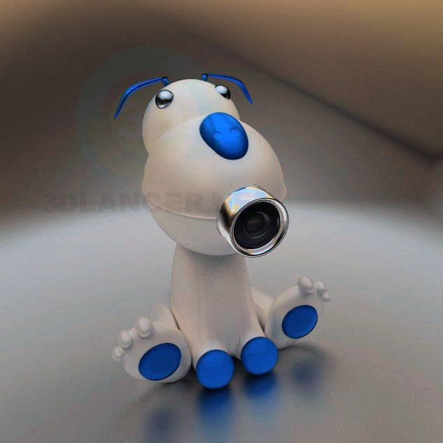 3d model WEB-Dog - preview