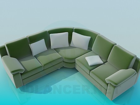 3d modeling Soft Corner, Sofa model free download