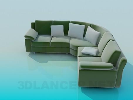 3d model Soft Corner, Sofa - preview