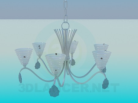 3d modeling The chandelier in the minimalism style model free download