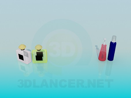 3d modeling Perfume model free download