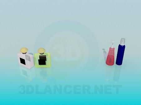 modelo 3D Perfume - escuchar