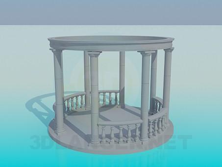 3d модель Альтанка з колонами – превью