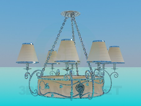 3d modeling Chandelier on the chain model free download