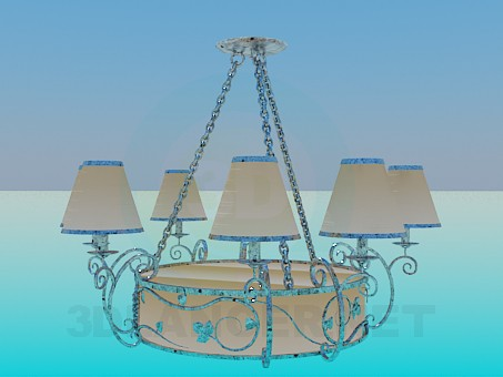 3d model Chandelier on the chain - preview