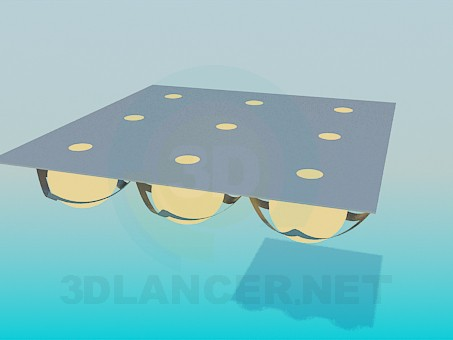 3d modeling Square luminaire model free download