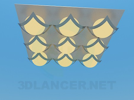 3d model Square  luminaire - preview