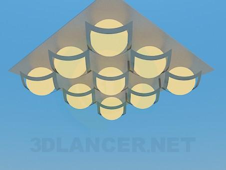 3d model Square luminaire - preview