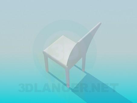3d модель Стул с высокой спинкой – превью
