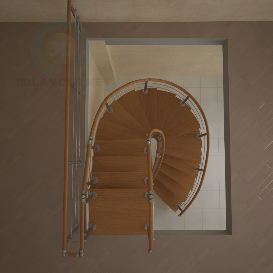 3d model Stairs to monokosoure, spiral - preview