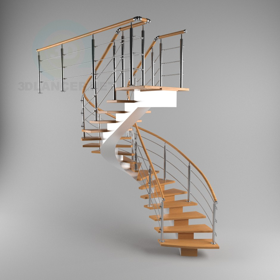 3d modeling Stairs to monokosoure, spiral model free download