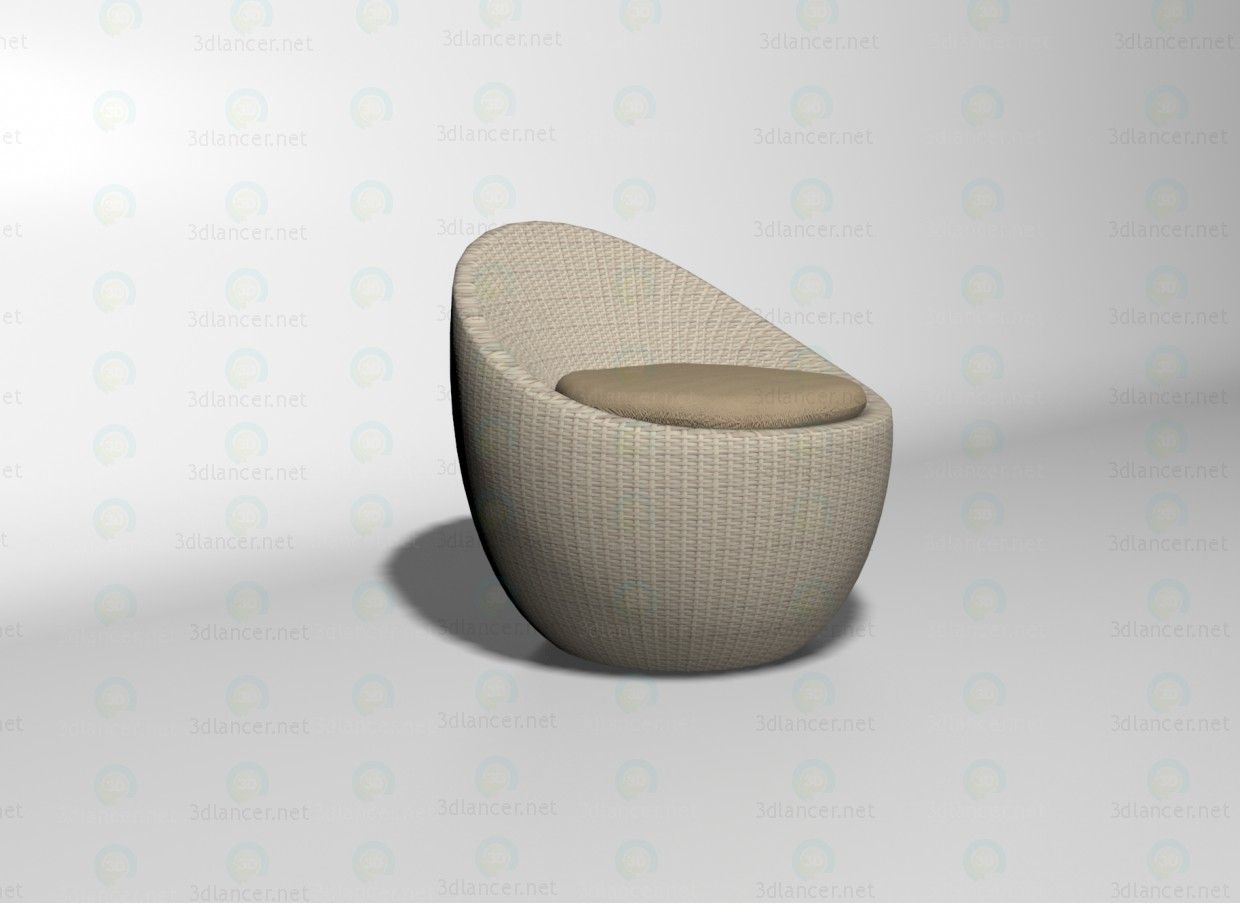 3d model Salima armchair - preview