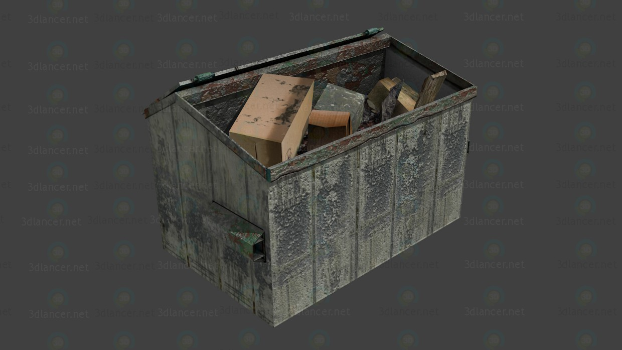 Dumpster paid 3d model by Трущев Илья preview