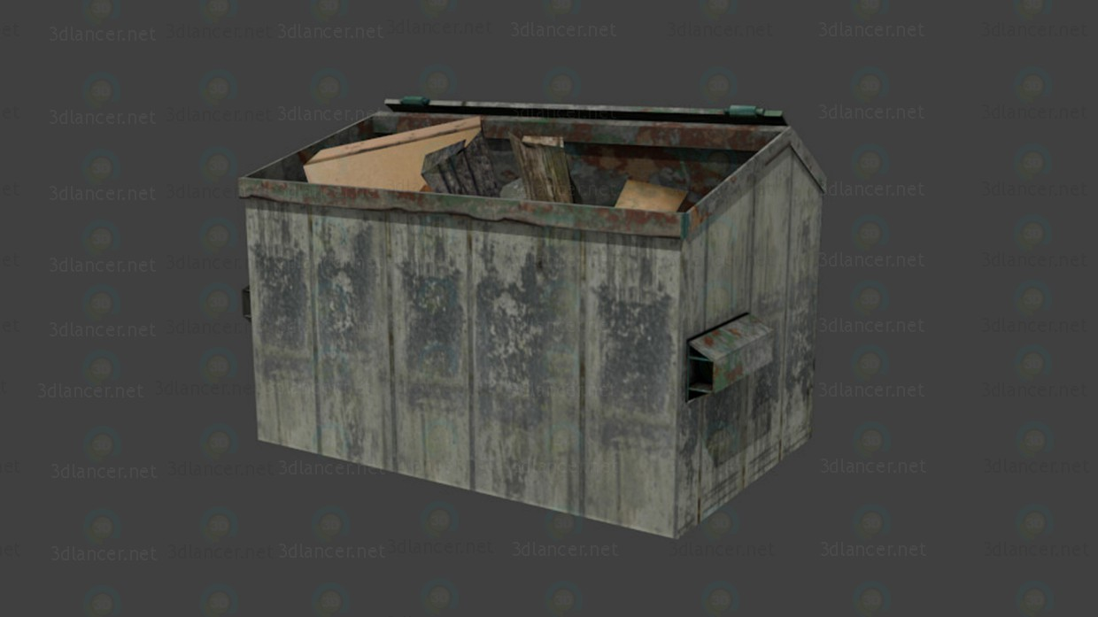 3d  Dumpster  model buy - render