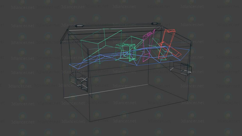 3d Мусорный контейнер модель купить - ракурс