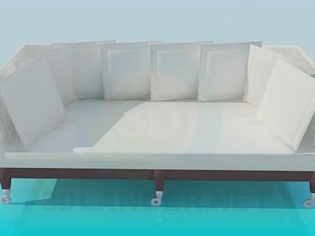 3D modeli Kanepe - önizleme