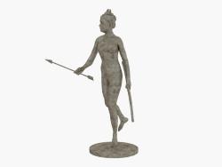 Scultura in bronzo Diana la cacciatrice