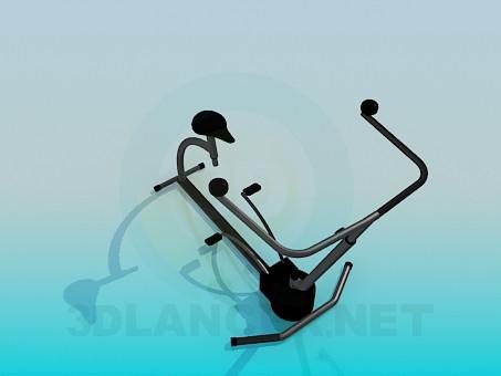 modelo 3D Simulador para piernas - escuchar
