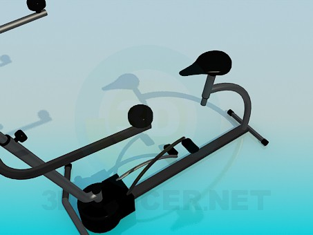 3d модель Тренажер для ног – превью