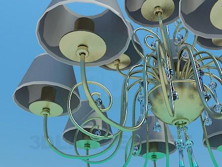 3d модель Люстра на 12 лампочек – превью
