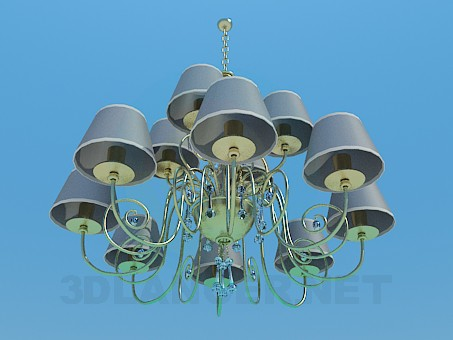 3d model Chandelier for 12 bulbs - preview