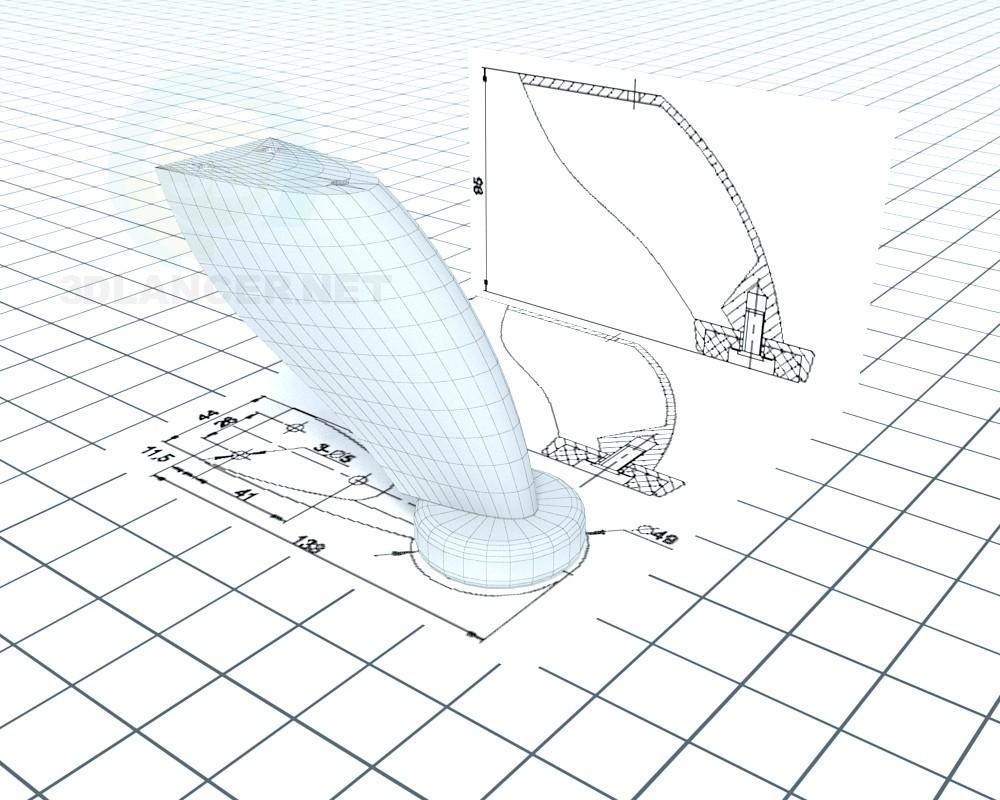 modelo 3D Pierna DZ 02 G2 NZ ECO 0204 - escuchar