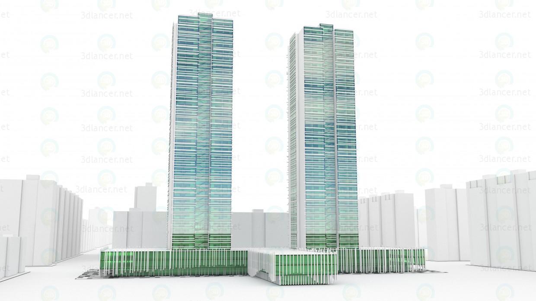 modelo 3D Vysotnik complejo residencial - escuchar