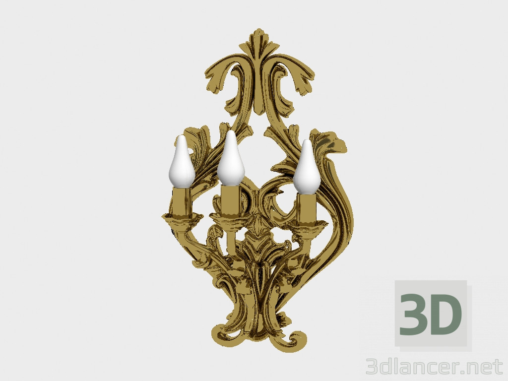 3d model Sconce,Asnaghi Interiors max(2012), - Free Download