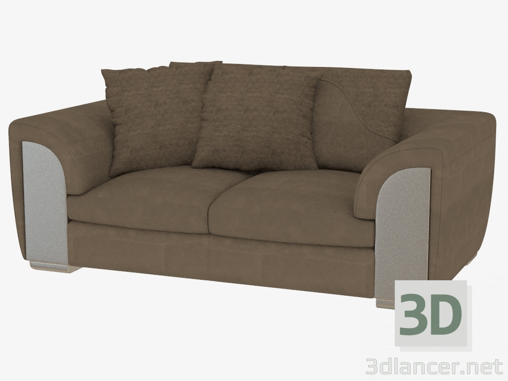 3d model double sofa leather memphis 200 115 70 for Double leather sofa