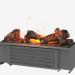 3 डी मॉडल इलेक्ट्रिक चिमनी कैसेट 600 - पूर्वावलोकन