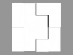 3D panel W103 - Cubi (33.3 x 33.3 x 2.5 cm)
