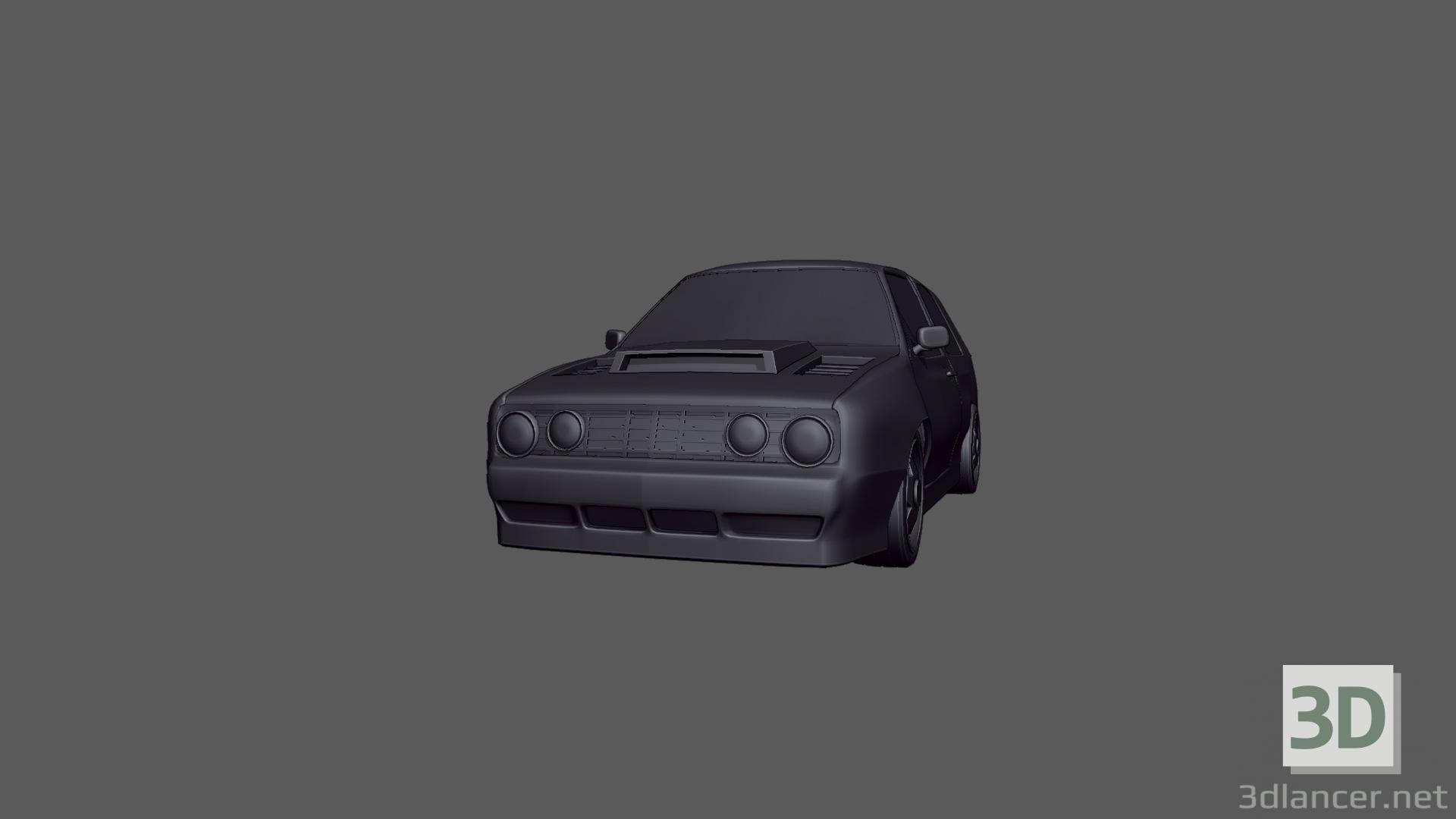 3d 1992 Volkswagen Golf GTI model buy - render