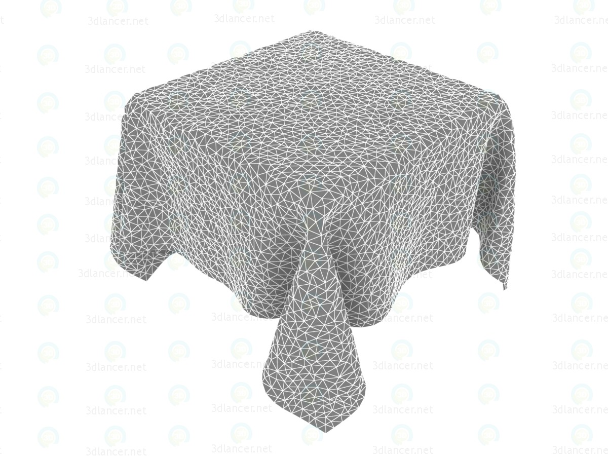 3d  Tablecloth linen animated 1800h1800mm  model buy - render